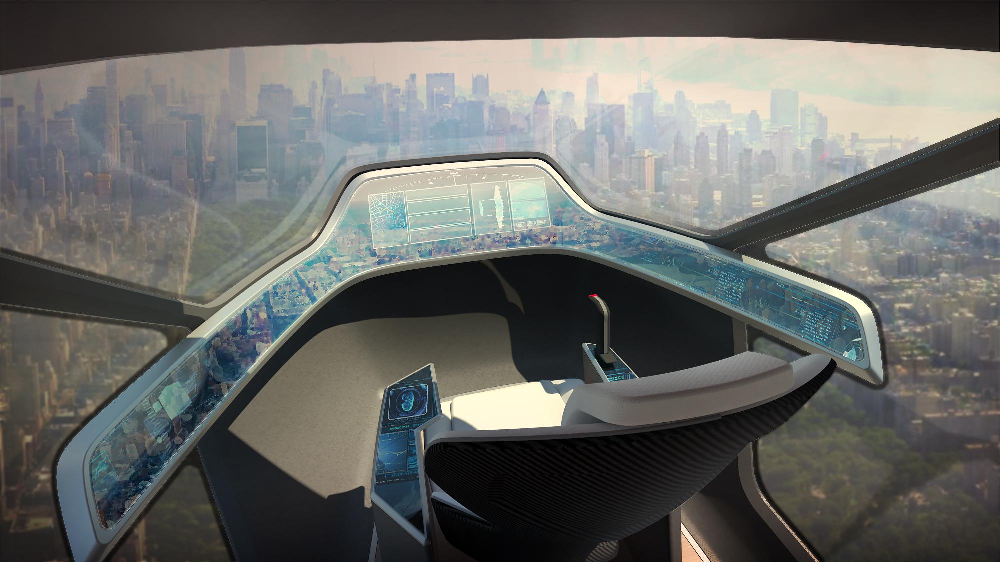 Render de conceito: Cockpit.